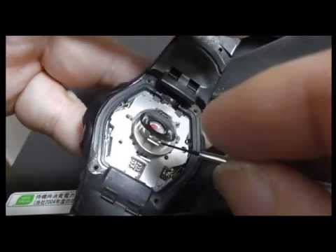 Casio G-SHOCK Tough Solar Lithium Battery Replacement - How to CTL1616