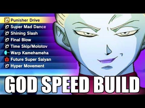 FULL GOD SPEED THEMED BUILD | Dragon Ball Xenoverse 2