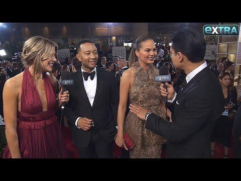 John Legend & Chrissy Teigen Give Update on Baby Luna at the 2017 Golden Globes