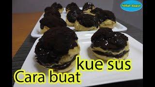 Gambar cover Cara buat kue sus vla coklat lembut yummi