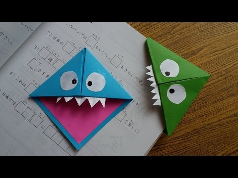 Monster Bookmarks ,Easy Paper Monster