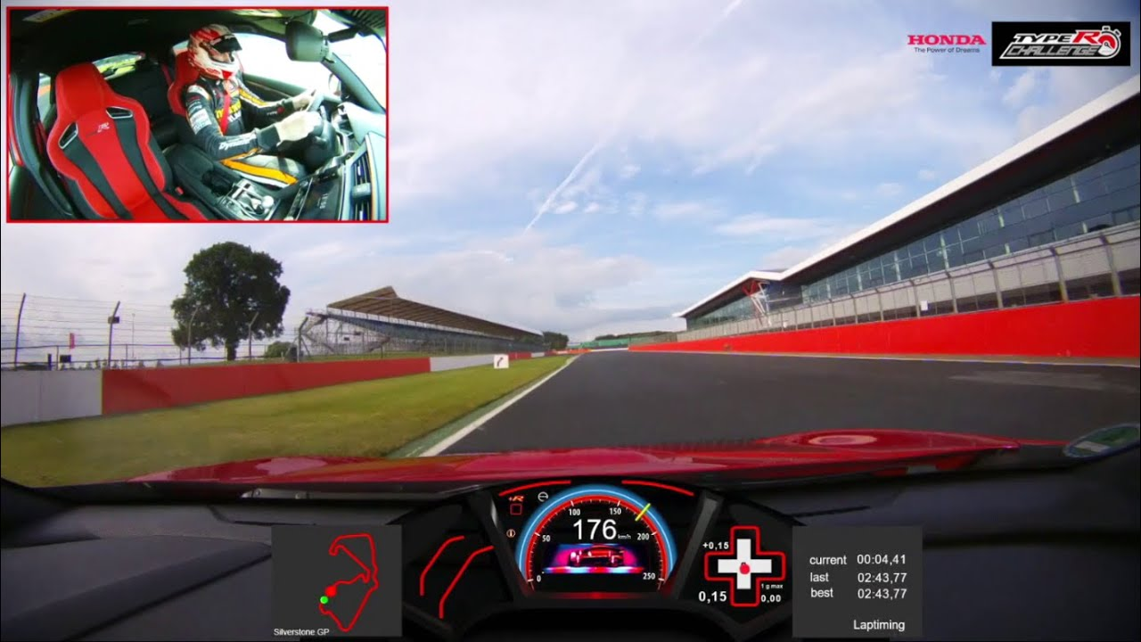 Honda Civic Type R achieves fastest lap record at Silverstone - official  onboard VBOX footage