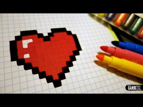 handmade-pixel-art---how-to-draw-a-kawaii-heart-#pixelart