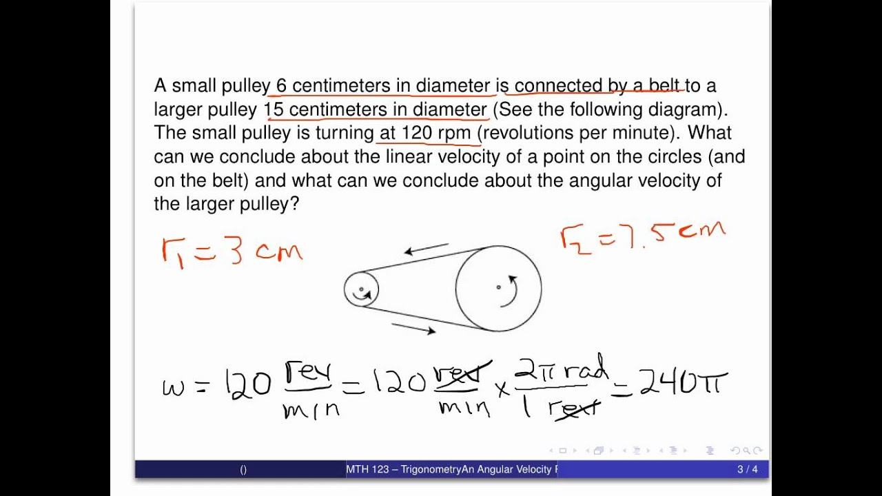 angular velocity Linear and angular velocities relate the speed of an object, dependent on the  perspective taken linear velocity applies to any object or particle that moves,.