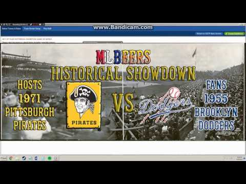 MLBeers Historical Showdown Episode 3, 1971 Pittsburgh Pirates v 1955 Brooklyn Dodgers