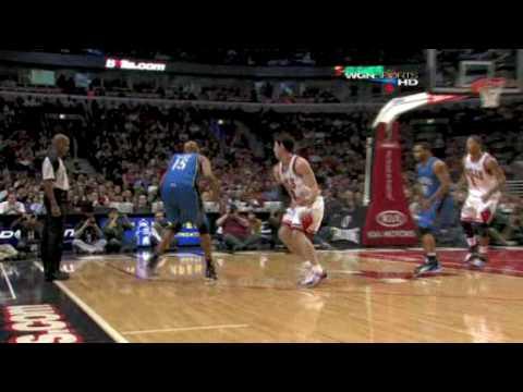 Vince Carter vs Kirk Hinrich behind the back jump shot