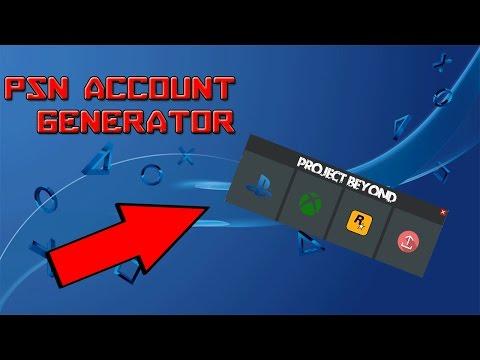 PSN Account Generator Tool