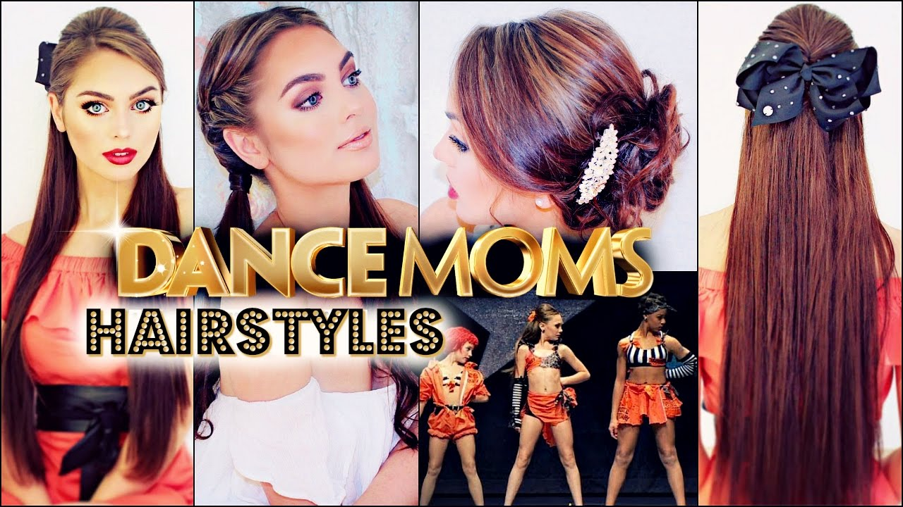 Hair Styles For Seniors: 5 Easy & Fast DANCE MOMS Competition Hairstyles! 👯