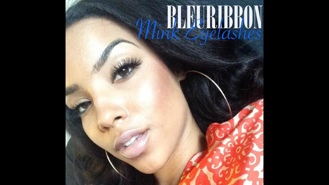 Review Demo Bleuribbon Mink Eyelashes Youtube