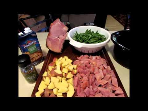 Crock Pot Meal (ham,potatoes,green Beans)