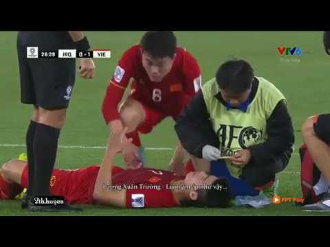 Asian 2019 Những nỗ lực của Lương Xuân Trường trong trận đấu với Iraq