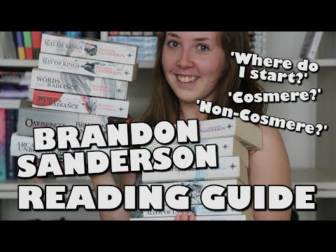 Brandon Sanderson   Reading Guide [spoiler Free]