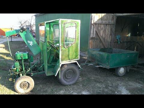 видео: Мини-трактор