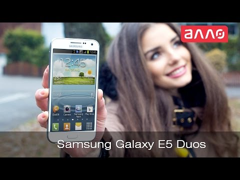 Видео-обзор смартфона Samsung Galaxy E5 Duos
