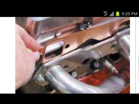 How To Replace A Header Gasket - Chevy V8 ( Exhaust Manifold Gasket ) & install
