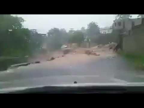 Inundaciones en Greenpond road, St. James, Jamaica