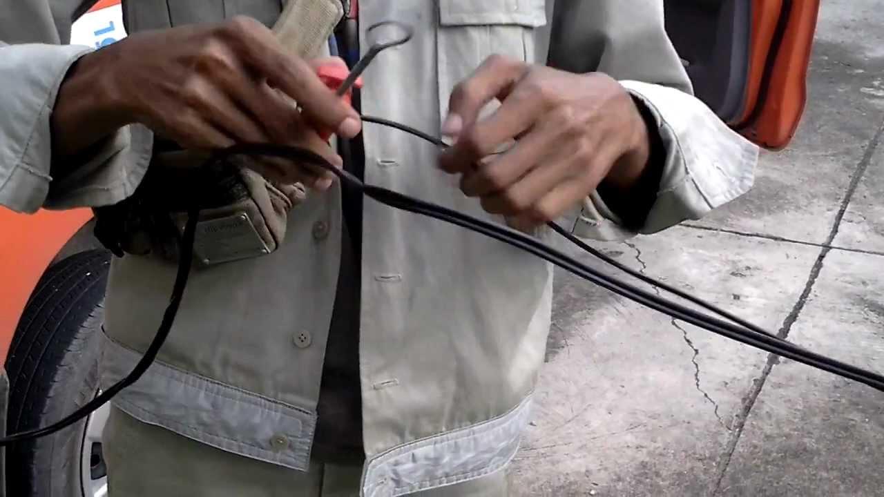 การเข้า clamp drop wire - YouTube