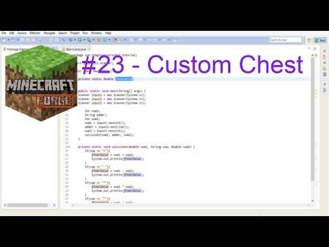 Minecraft forge modding 1.7.X - Custom Chest
