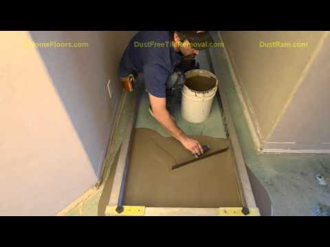 DustRam® System Floor Leveling Process.  Perfect For Particular People And Wood Floor Installations.