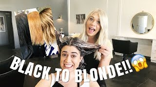 KIM K TRANSFORMATION | black to blonde in one day!