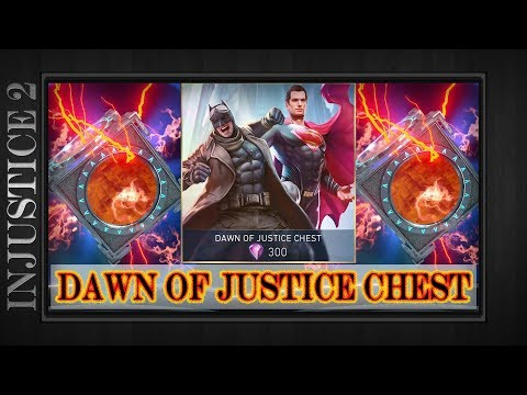 Injustice 2 Mobile | (11) DAWN OF JUSTICE CHEST OPENING | Knightmare Batman? BvS Superman? |