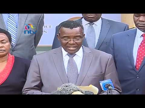 Chief Justice David Maraga reads to the riot act to detractors