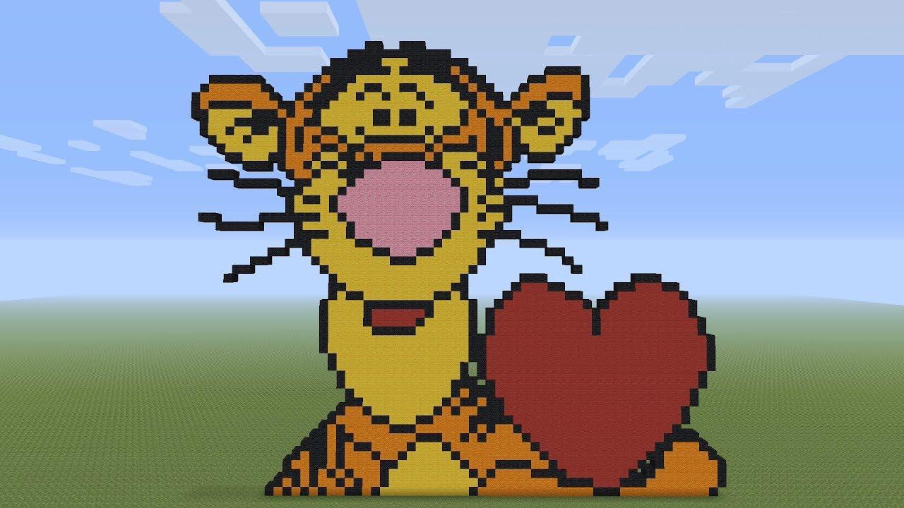 Minecraft Pixel Art Spongebob Grid