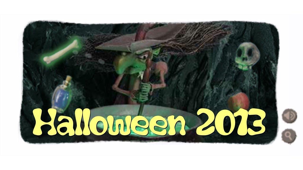 Halloween Hexe Halloween Witch Google Doodle 2013