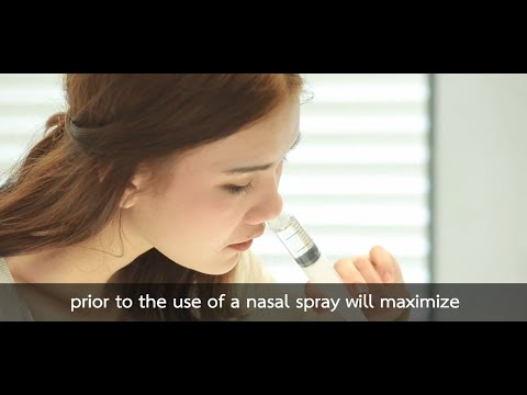 A nasal irrigation technique using a medical syringe (ENG SUB)