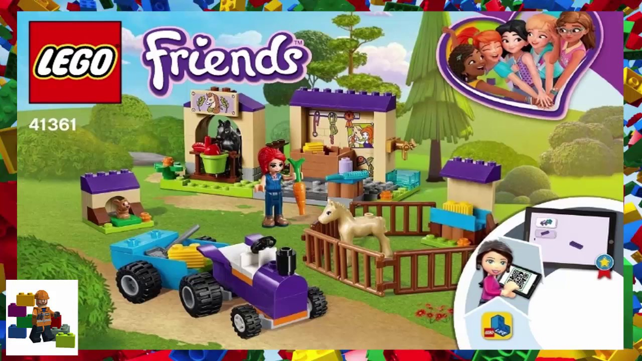 Lego Instructions Friends 41361 Mias Foal Stable Youtube