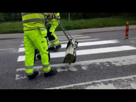 Thermoplastic road marking project performed by Swedish company EKC Sverige AB - Part II