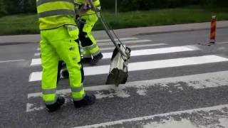 SWEDEN - Thermoplastic road marking project performed by Swedish company EKC Sverige AB - Part II