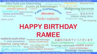 Ramee   Languages Idiomas - Happy Birthday