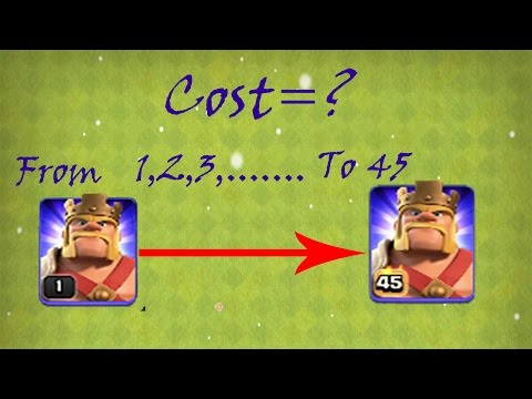Barbarian King Upgrade Cost (Dark Elixir And Gems) 🔶 Clash Of Clans 🔶 CoC