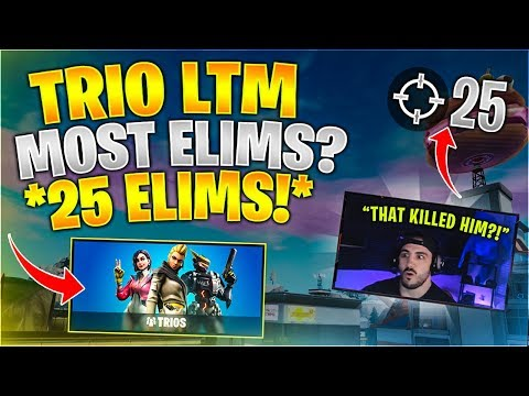 The MOST Elims In A TRIOS *25 ELIMS*