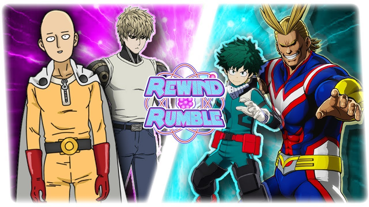 ONE PUNCH MAN vs MY HERO ACADEMIA! (Genos & Saitama vs All Might & Deku)    REWIND RUMBLE!