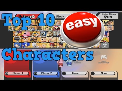 Top 10 Easiest Characters To Master | Smash 4
