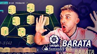 PLANTILLA BARATA LIGA SANTANDER PARA EMPEZAR FIFA 20