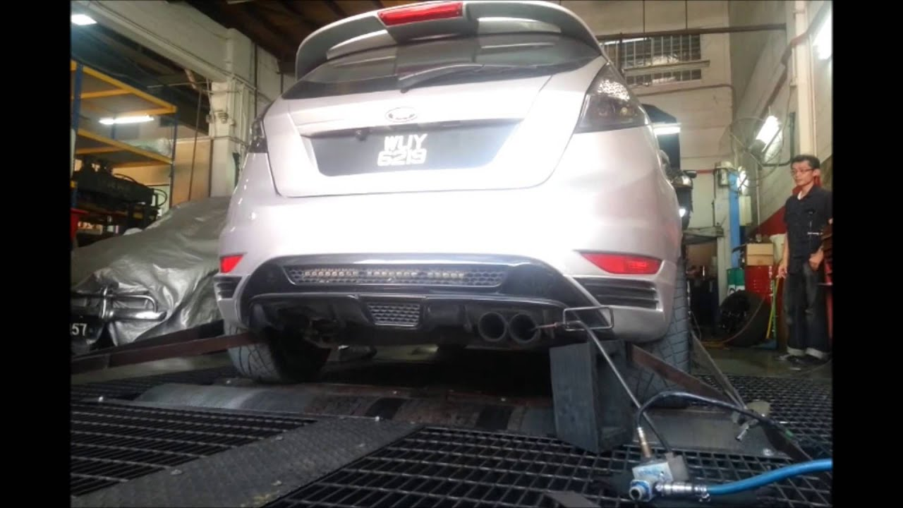 Ford fiesta mk7 powered by rotrex dyno run before retune