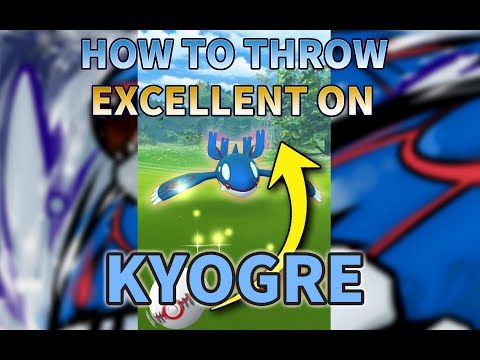 Pokemon GO: How to throw Excellent throws on Kyogre? +AR Mode Trick 如何向蓋歐卡拋Excellent球?