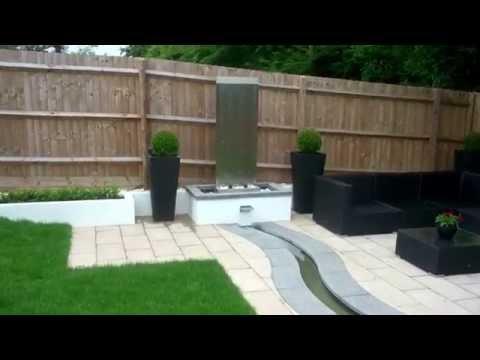 Designer patio & water feature