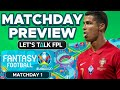 Euro 2020 Fantasy: Matchday 1 Preview - Tips for MD1