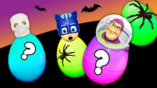 Paw Patrol and PJ Masks and Toy Story 4 Spooky Surprise Egg Seek and Find Frozen Toys