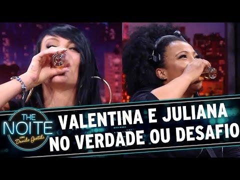 The Noite (21/09/16) - Juliana e Valentina se enfrentam no Verdade ou Desafio