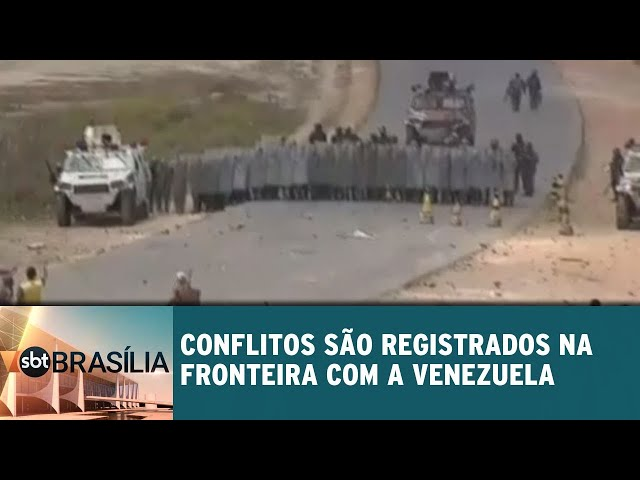 Conflitos são registrados na fronteira com a Venezuela | SBT Brasília 25/02/2019