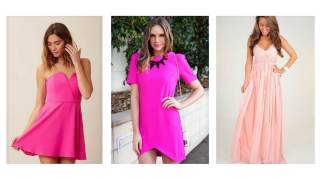 Top 100 Most beautiful  pink party dresses for women