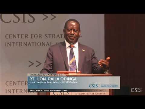 CSIS: Raila Odinga on Kenyan Elections (Full Speech+ Q&A)