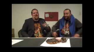 a will gibbons original two fat dudes eating doughnuts