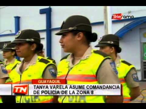 Tanya Varela asume comandancia de policía de la Zona 8