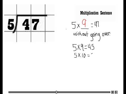 4th grade Common Core 2-digit by 1-digit division - YouTube